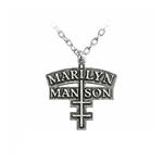 Official Alchemy MARILYN MANSON Necklace Pendant Metal CROSS Chain Thumbnail 2