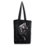 Spiral Ladies Gothic Cute POCKET KITTEN Cat Canvas Tote Bag 4 Life Thumbnail 2