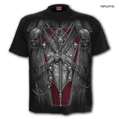SPIRAL Direct Unisex T Shirt Gothic Vampire STRAPPED Steampunk All Sizes