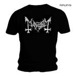 Official T Shirt MAYHEM Black Death Metal 'Distressed Logo' All Sizes Thumbnail 1