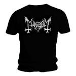 Official T Shirt MAYHEM Black Death Metal 'Distressed Logo' All Sizes Thumbnail 2