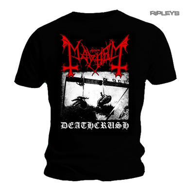 Official T Shirt MAYHEM Black Death Metal DEATHCRUSH Black All Sizes