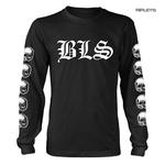 Official T Shirt BLACK LABEL SOCIETY Skulls 'Logo' Long Sleeve All Sizes Thumbnail 1