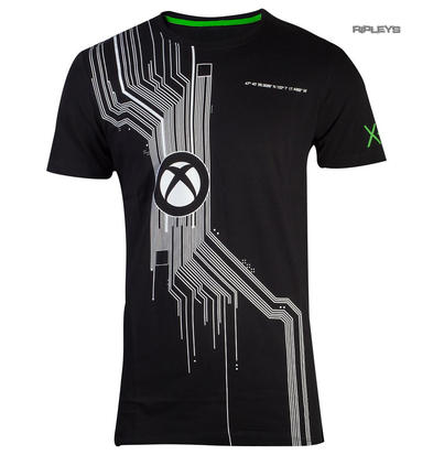 Official Black Gaming T Shirt XBOX One Console 'System' Logo All Sizes