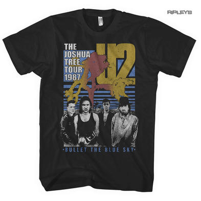 Official T Shirt Classic Rock U2 'Bullet The Blue Sky' Tour 1987 All Sizes