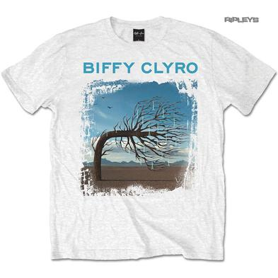 Official T Shirt BIFFY CLYRO White Logo 'Opposites' Album Cover All Sizes