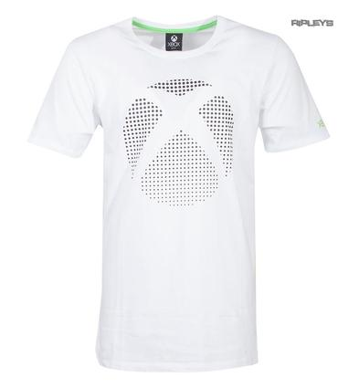 Official White Gaming T Shirt XBOX One Console '3D Dot Logo' All Sizes