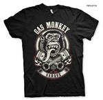 Official T Shirt GMG Gas Monkey Garage Hot Rod 'Piston & Flames' Black All Sizes Thumbnail 1