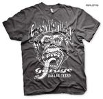 Official T Shirt GMG Gas Monkey Garage Hot Rod 'DALLAS' Texas Grey All Sizes Thumbnail 1