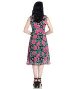 Hell Bunny 40s 50s Elegant Pin Up Dress EDEN ROSE Darcy Black Chiffon All Sizes Thumbnail 4
