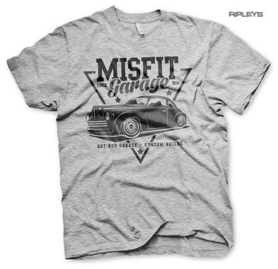 Official T Shirt MISFIT GARAGE Gas Monkey Hot Rod 'Since 2014' Grey All Sizes