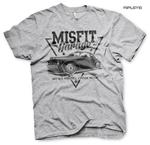 Official T Shirt MISFIT GARAGE Gas Monkey Hot Rod 'Since 2014' Grey All Sizes Thumbnail 1
