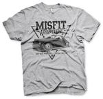 Official T Shirt MISFIT GARAGE Gas Monkey Hot Rod 'Since 2014' Grey All Sizes Thumbnail 2
