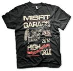 Official T Shirt MISFIT GARAGE Texas Gas Monkey Hot Rod 'High Torque' All Sizes Thumbnail 2
