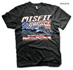 Official T Shirt MISFIT GARAGE Texas Gas Monkey Hot Rod 'Old Glory' All Sizes Thumbnail 1