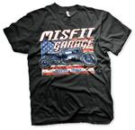 Official T Shirt MISFIT GARAGE Texas Gas Monkey Hot Rod 'Old Glory' All Sizes Thumbnail 2