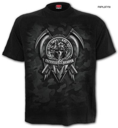 SPIRAL Direct Unisex T Shirt Gothic TACTICAL Reaper Army Camo All Sizes Preview