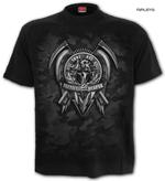 SPIRAL Direct Unisex T Shirt Gothic TACTICAL Reaper Army Camo All Sizes Thumbnail 1
