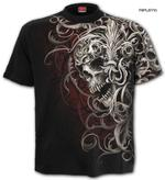 SPIRAL Direct Unisex T Shirt Gothic Filigree AO 'Skull Shoulder Wrap' All Sizes Thumbnail 1