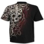 SPIRAL Direct Unisex T Shirt Gothic Filigree AO 'Skull Shoulder Wrap' All Sizes Thumbnail 4
