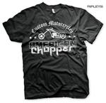 Official T Shirt AMERICAN CHOPPER Motorcycle Bike 'Wash Logo' All Sizes Thumbnail 1