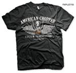 Official T Shirt AMERICAN CHOPPER Motorcycle Bike 'Handle Bars' All Sizes Thumbnail 1