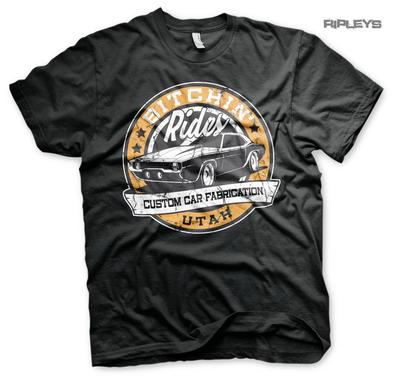 Official T Shirt BITCHIN' RIDES Custom Cars Fabrication Garage 'Utah' All Sizes