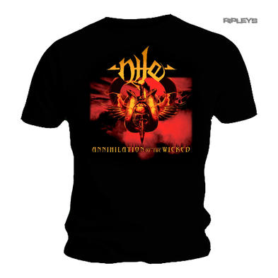 Official T Shirt NILE Death Metal Album Gold  'Annihilation of the Wicked'
