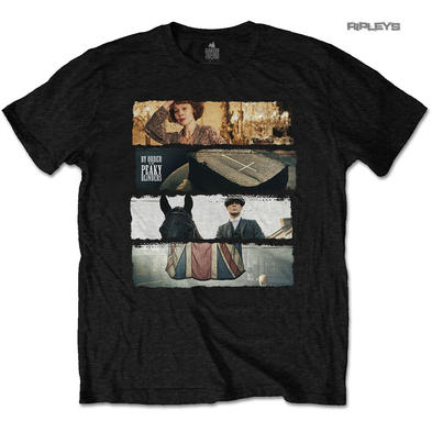 Official T Shirt PEAKY BLINDERS Tommy Shelby 'Slices' Black All Sizes