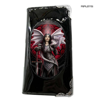 ANNE STOKES 3D SMALL Purse Wallet Black PVC Gothic Dragon 'Valour'