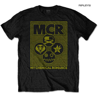 Official T Shirt MCR My Chemical Romance  Gold Logo 'Lock Box' All Sizes