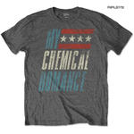 Official T Shirt MCR My Chemical Romance Vintage Logo 'Raceway' Grey  All Sizes Thumbnail 1
