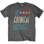 Official T Shirt MCR My Chemical Romance Vintage Logo 'Raceway' Grey  All Sizes Thumbnail 2