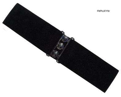Hell Bunny Retro 50s Waist BELT Rockabilly Elasticated BLACK Version #2 All Size