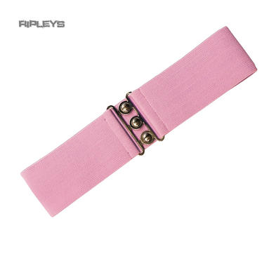 Hell Bunny Retro 50s Waist BELT Rockabilly Elasticated PINK Version #2 All Sizes