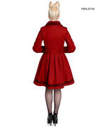 Hell Bunny 40s 50s Vintage Rockabilly Winter Coat MILLIE Red All Sizes Thumbnail 3