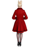 Hell Bunny 40s 50s Vintage Rockabilly Winter Coat MILLIE Red All Sizes Thumbnail 4