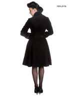 Hell Bunny 50s Vintage Rockabilly Winter Lace Coat ANGELINE Black Thumbnail 3