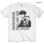 Official T Shirt PEAKY BLINDERS Shelby Birmingham 'England 1919' White All Sizes Thumbnail 1