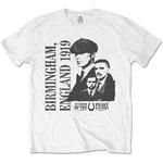 Official T Shirt PEAKY BLINDERS Shelby Birmingham 'England 1919' White All Sizes Thumbnail 2