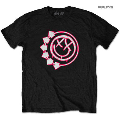 Official T Shirt Punk Rock BLINK 182 'Six Arrow Smiley' Logo All Sizes