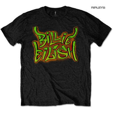 Official T Shirt BILLIE EILISH 'Graffiti' Black All Sizes