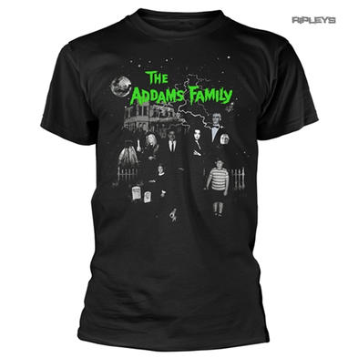 Official Gothic Horror T Shirt The Addams Family 'Addams Family House' All Sizes