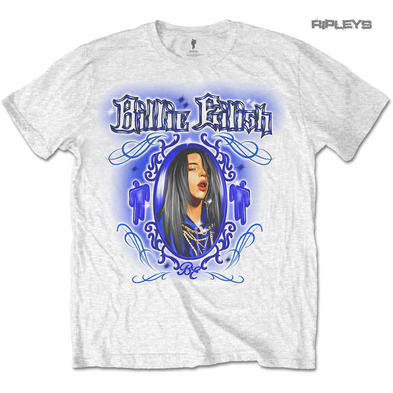 Official T Shirt BILLIE EILISH 'Airbrush Photo' White All Sizes