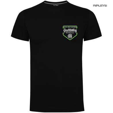Official KYD T Shirt GMG Gas Monkey Garage Hot Rod  'Green Shield' All Sizes