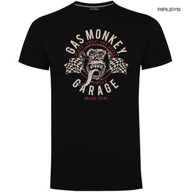 Official KYD T Shirt GMG Gas Monkey Garage Hot Rod  'Twin Flags' All Sizes Preview