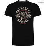 Official KYD T Shirt GMG Gas Monkey Garage Hot Rod  'Twin Flags' All Sizes Thumbnail 1