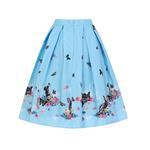 Hell Bunny Spring Easter 50s Pin Up Skirt COTTON TAIL Blue Rabbits All Sizes  Thumbnail 4