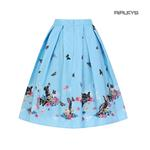 Hell Bunny Spring Easter 50s Pin Up Skirt COTTON TAIL Blue Rabbits All Sizes  Thumbnail 3