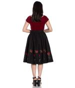 Hell Bunny 50s Skirt Vintage Rockabilly ROSA ROSSA Roses Black All Sizes Thumbnail 4